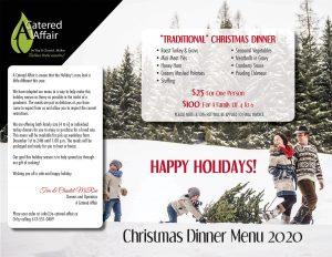 A Catered Affair Menu 2020 Family Christmas Dinner