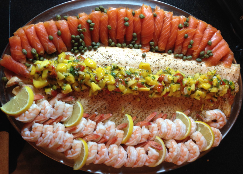 roast-salmon-mango-salsa-black-tiger-shrimp-smoked-salmon-with-capers-catering-montreal-a-catered-affair-by-tim-mcrae-2